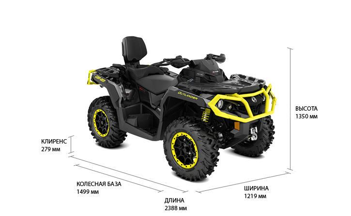 Технические характеристики Outlander MAX 1000R XT-P
