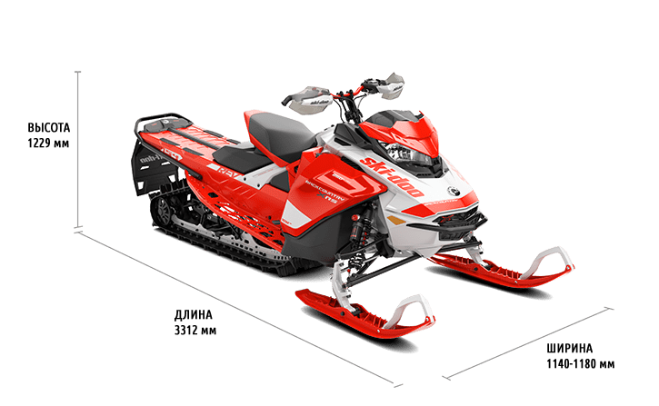 Технические характеристики Backcountry X-RS 850 E-TEC 154″