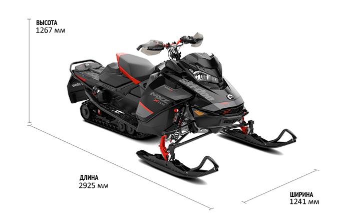 Технические характеристики MXZ X-RS 600R E-TEC