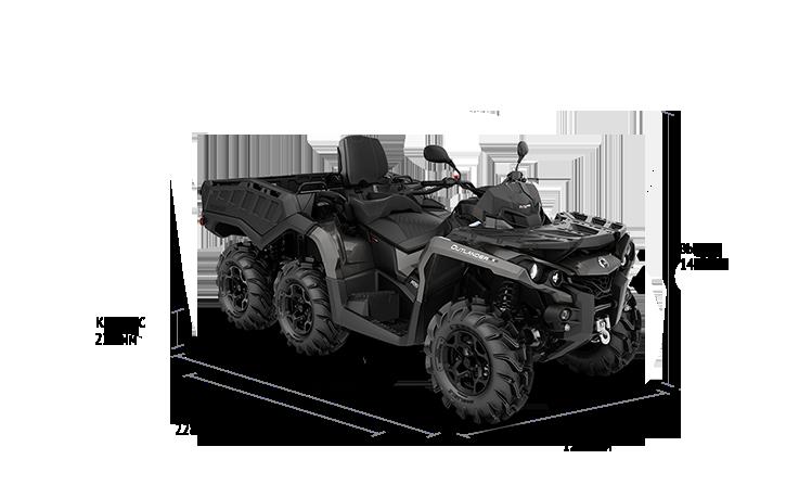Технические характеристики Outlander MAX 6×6 650 PRO+